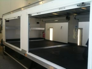Truck lining protection and to prevent slippage