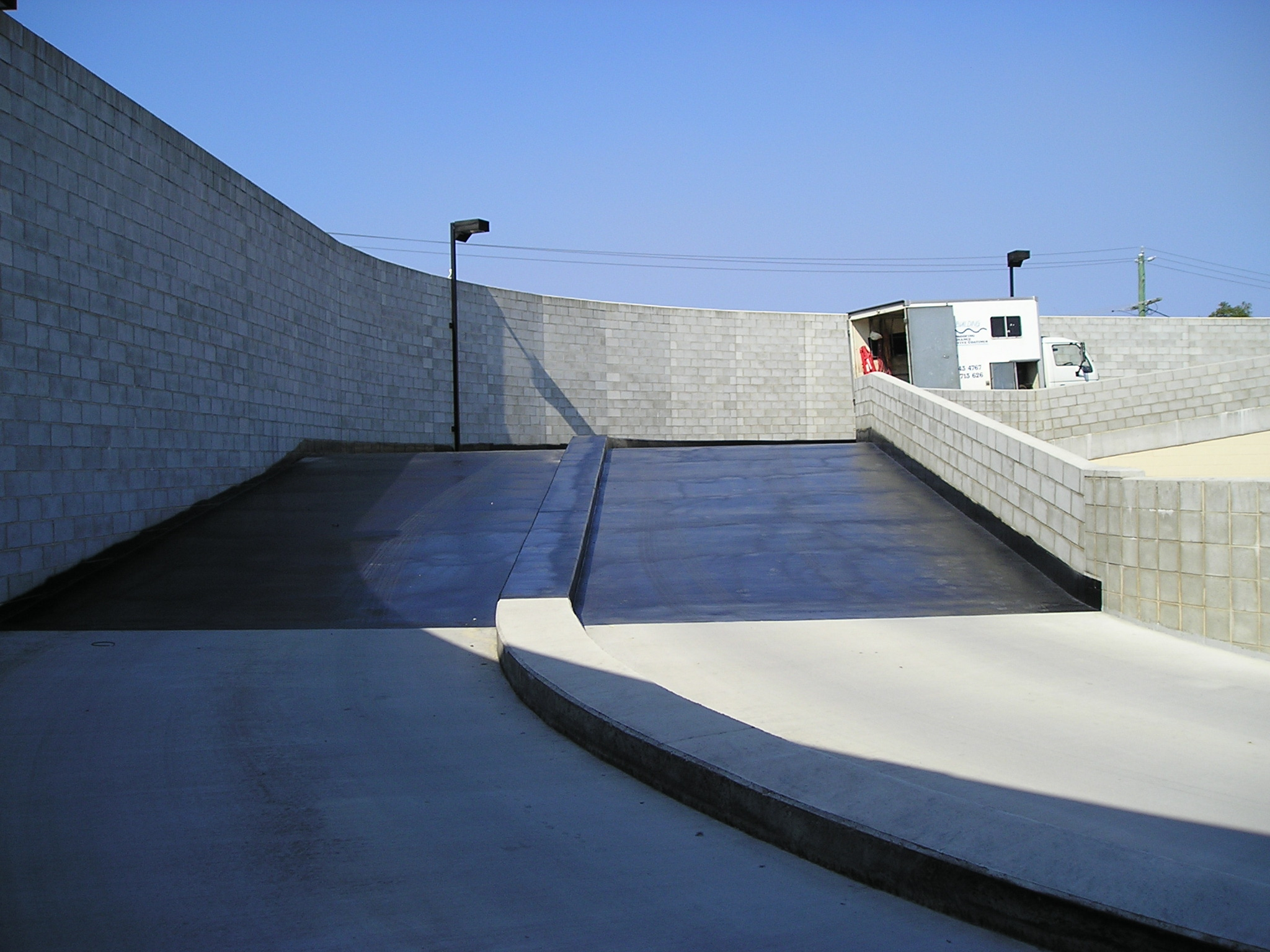 Rooftop Carpark Ramp Waterproofing Concrete