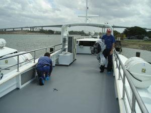 Catamaran Decking Marine Applications Tufflon