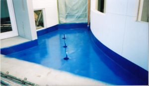 Water Feature using Elaston-W80 Polyurea as a waterproofing membrane
