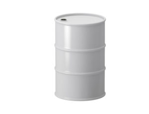 White 200L Drum