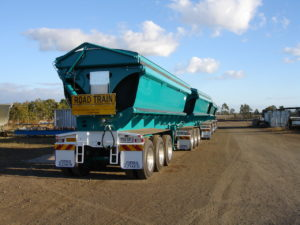 Tipper Truck lined with Tufflon