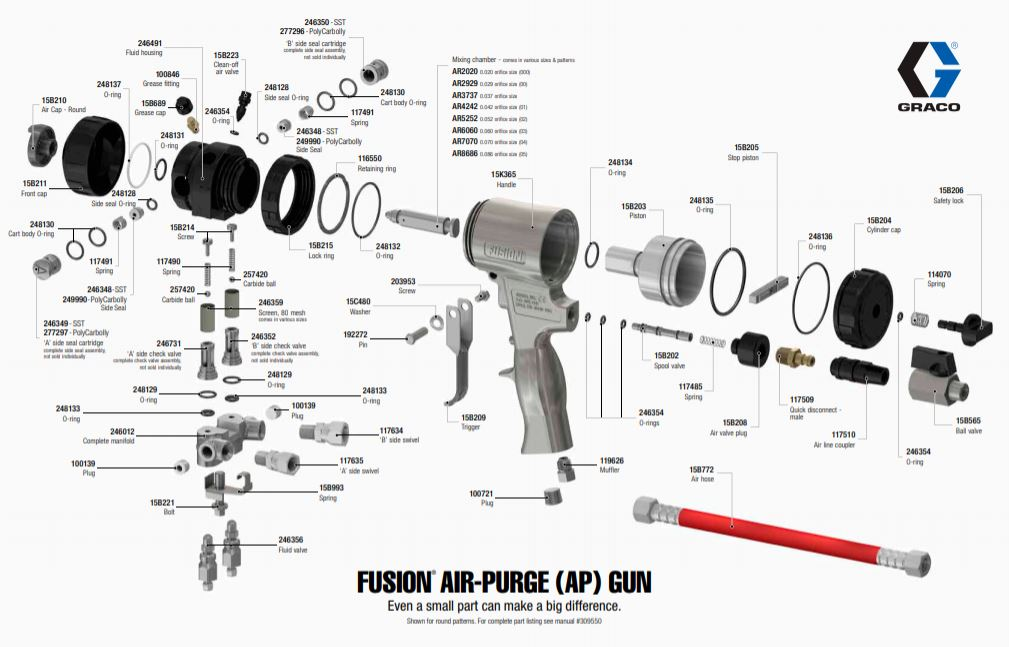 Fusion Air Purge AP Gun Graco Diagram