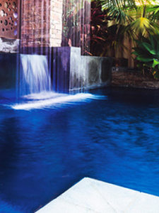 Waterproofing water feature