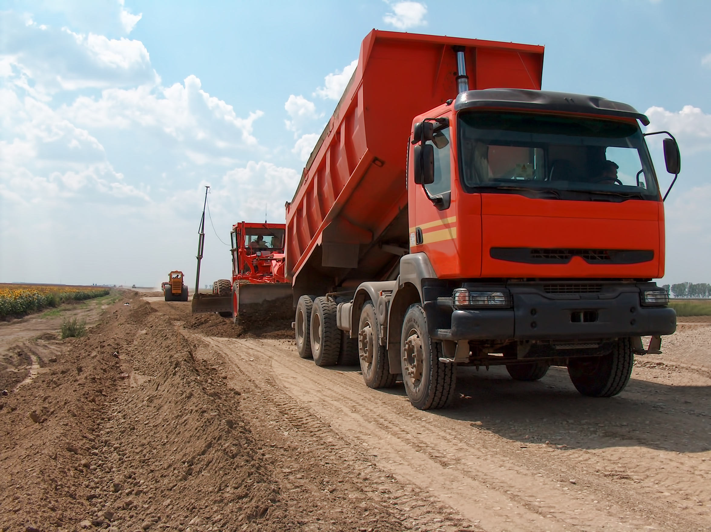 Transport Truck Tipper