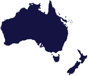 Map Australia New Zealand LiquiMix Australasia