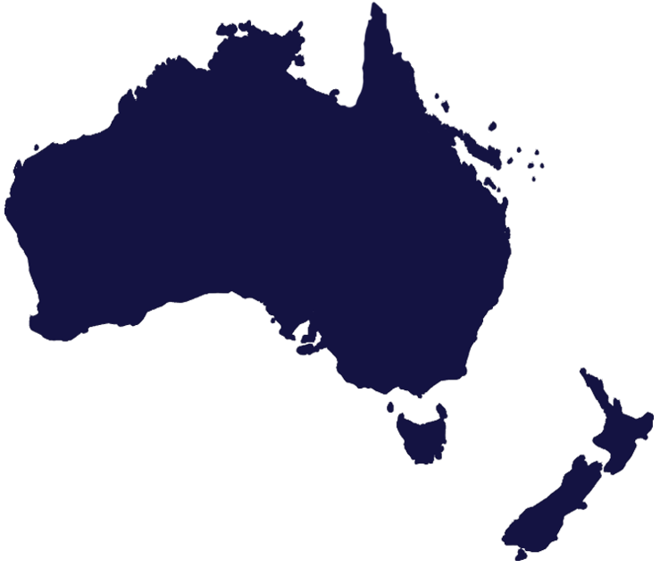 Map Australia New Zealand LiquiMix Australasia