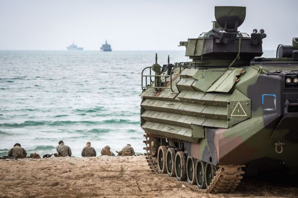 Amphibious Assault Vehicle from the US Marine Corps Protected with Polyurea
