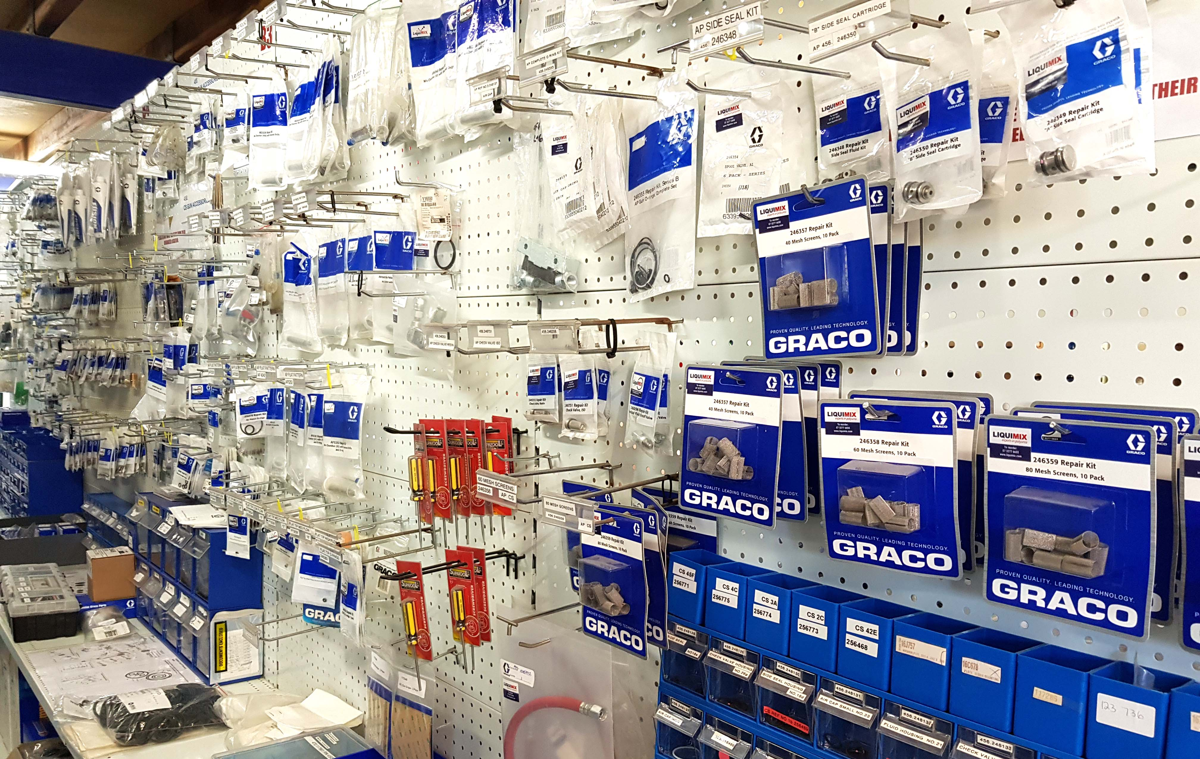 LiquiMix Shop stocks the largest range of spare Graco parts