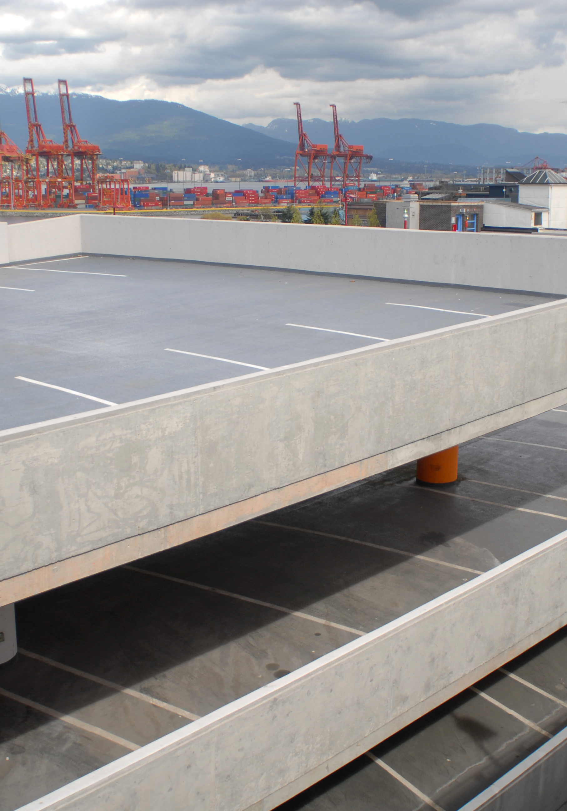 Concrete carparks require waterproofing with Elaston polyurea